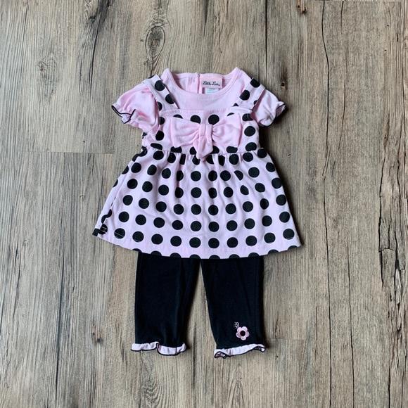 NWOT Little Lass Baby Girl Set